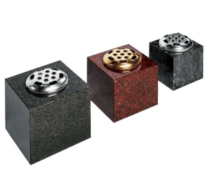Square Granite Vases 6, 7, 8 inch